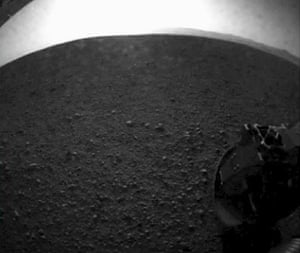 Mars rover lands: One of the first images from the Curiosity rover landed on Mars