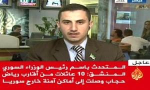 Mohammad Otri, spokesman for former prime minister Riad Hijab, speaking to al-Jazeera Arabic.