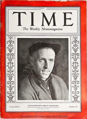 Manifesta 9: Alexey Stakhanov in Time Magazine 1935