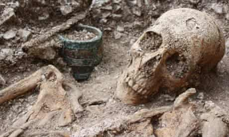 Remains of Anglo Saxon warrior