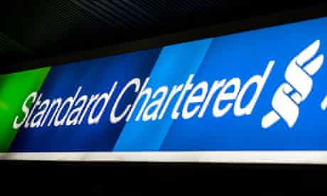 The logo of Standard Chartered bank