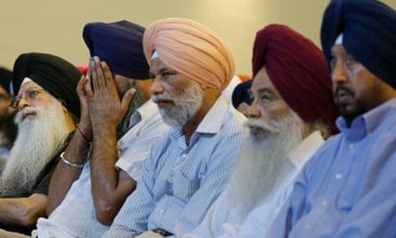 Members of Sikh temple in Oak Creek Wisconsin