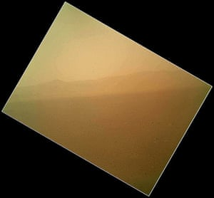 Mars Curiosity Rover : Curiosity's First Color Image of the Martian Landscape.