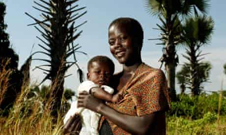 Angela Achuga and baby Samaul, Katine