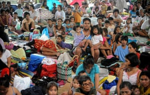 Floods in Manila: TOPSHOTS This general view shows a group