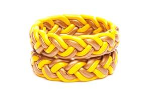 Fashion Wish List: Yellow and tan woven bracelets