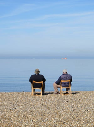 Your Pictures: Getaways: Two men sitting in deckchairs on a beach