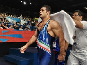 Iran's Gholamreza Ghasem Rezaei looked and acted like a winner all day.