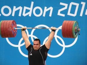 Iranian Behdad Salimikordasiabi's gold winning lift in the men's +105kg weightlifting.