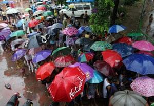 Flood evacuees in Metro Manila