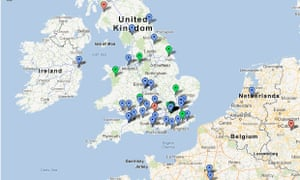 Interactive map of readers' stories from the crisis