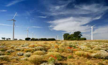 Wind turbines in Norfolk