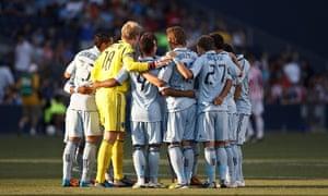 Sporting Kansas City team huddle Sporting KC