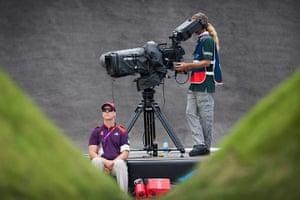 BMX: TV cameras film the action