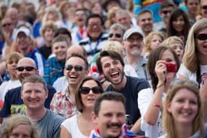 BMX: The fans seem to be enjoying themselves