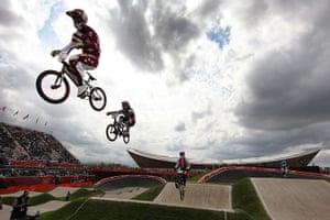 BMX: Riders getting air