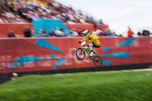 BMX: Australia's Lauren Reynolds gets some air