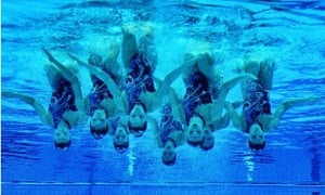 The Russian synchronised swimming team