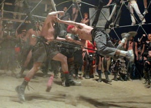 Burning Man: Two men bare-knuckle fight at the Thunder Dome