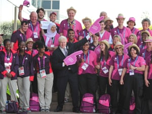 London Mayor Boris Johnson meets Team London Ambassadors and LOCOG Games Makers involved in the Olympic and Paralympics