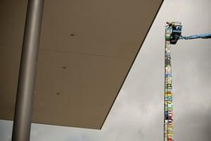 24 hours: Prague, Czech Republic: The world's tallest tower created from Lego bricks