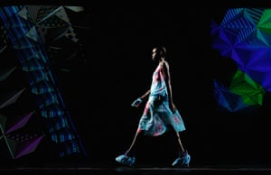 24 hours: New York, USA: A model practices at New York Fashion Week