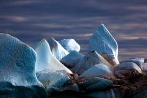 The Cold Edge: Iceberg: ice formations on an iceberg, Kane Basin, Northwest Greenland.