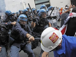 arceloa protest in italy