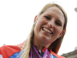 Here's Stephanie swimmer Stephanie Millward...