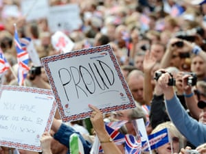 a sign reading proud