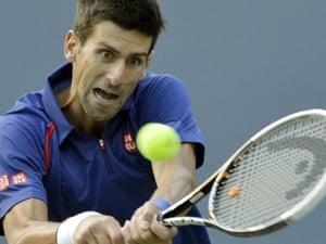 Novak Djokovic: practised concentration.