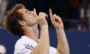 Andy Murray celebrates winning US open