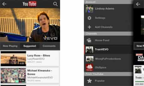 YouTube iPhone app