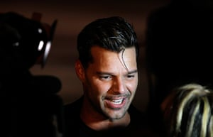 new york fashion week: Ricky Martin at Marc Jacobs