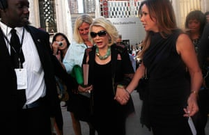 new york fashion week: Joan Rivers and daughter Melissa Rivers