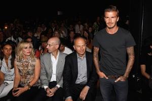 new york fashion week: David Beckham