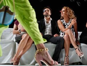 new york fashion week: Google founder Sergey Brin and designer Diane von Furstenberg