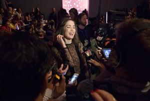 new york fashion week: ose Byrne at the Jill Stuart show