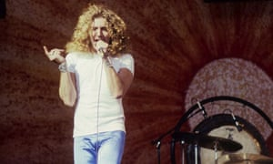 Robert Plant on stage