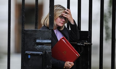 International development secretary Justine Greening arrives at Downing Street