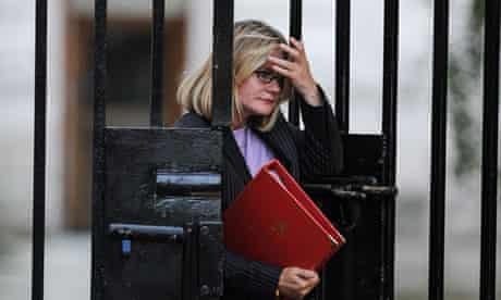 International development secretary Justine Greening arrives at Downing Street