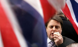 Nick Griffin in front of union flag