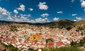 Overview of the colorful city of Guanajuato