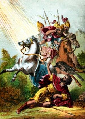 Ten best: Biblical Scenes, New Testament, Saul falls over