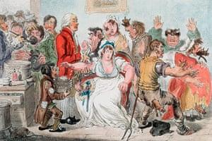 Ten best: Cowpox vaccination cartoon by James Gillray