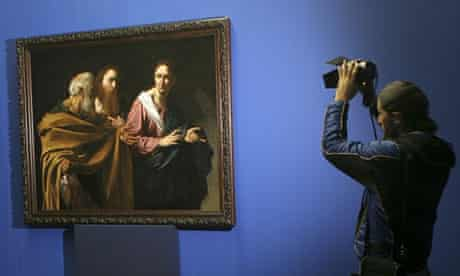 Caravaggio painting in Rome art gallery