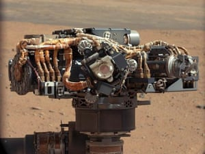 The instrument cluster on the robotic arm of NASA's Curiosity Mars rover