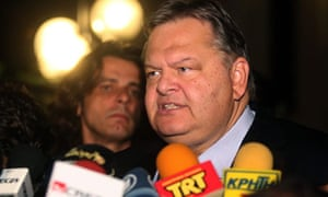 Evangelos Venizelos giving an interview