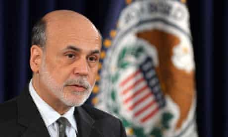 US Federal Reserve chief Ben Bernanke sp