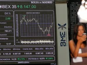 General view of Spanish Stock Market in Madrid, Spain on 14 September 2012.
